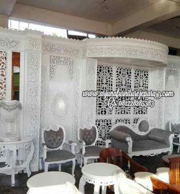 1 Set Kursi Dekorasi Pengantin Jepara