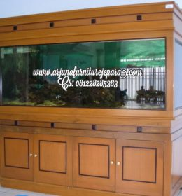 Harga Lemari Aquarium Minimalis Jati