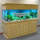Model Lemari Aquarium Jati