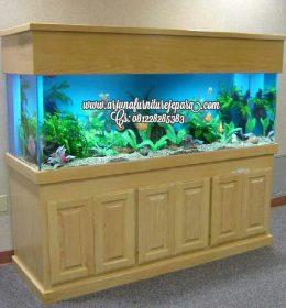 Model Lemari Aquarium Jati