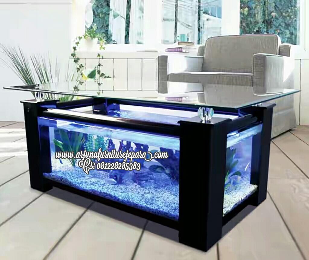 Meja Aquarium Minimalis Modern Murah Arjuna Furniture Jepara Mebel Jati Ukiran