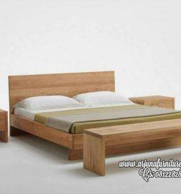 Jual Tempat Tidur Minimalis Jati Natural