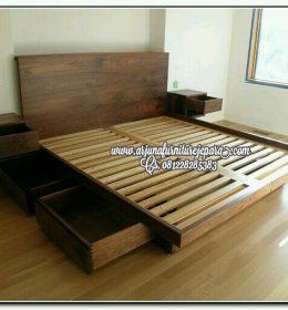Jual Tempat Tidur Minimalis Laci Jepara