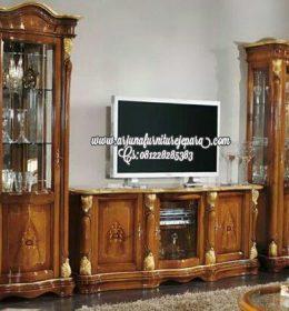 Bufet Tv Kayu Jati Ukir