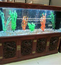 Harga Lemari Aquarium Jati Ukir Jepara