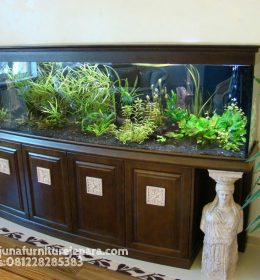 Model Meja Aquarium Kaca Cembung