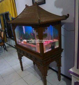 Harga Meja Aquarium Ukir Atap Sirap