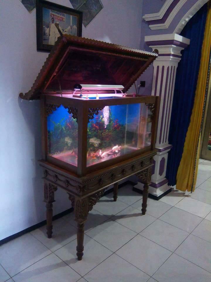 Gambar Meja Aquarium Ukir Jepara