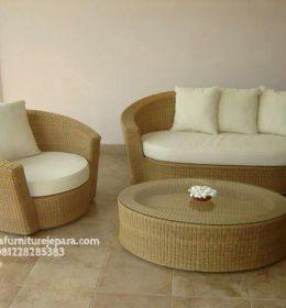 Harga Kursi Tamu Minimalis Sofa Rotan Sintesis