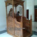 Gambar Mimbar Masjid Ukir Jepara Terbaru