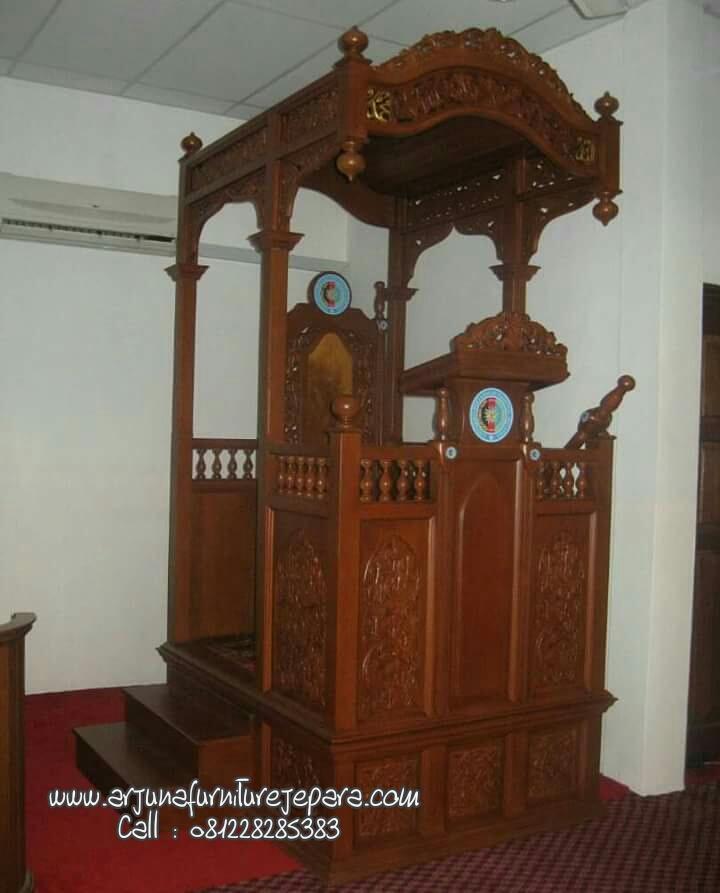 Harga Mimbar Masjid Kayu Jati