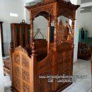 Mimbar Masjid Kayu Ukir Mewah