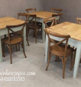 Jual Meja Kursi Cafe Minimalis Vintage