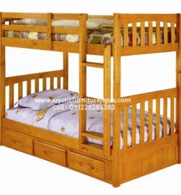 Gambar Tempat Tidur Tingkat Kayu Jati
