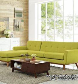 Model Kursi Tamu Sofa Sudut Minimalis Kayu Jati