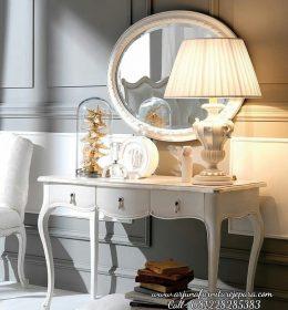 Jual Meja Konsul Cermin Minimalis Putih