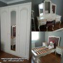 Desain Kamar Set Ukir Klasik Putih Duco