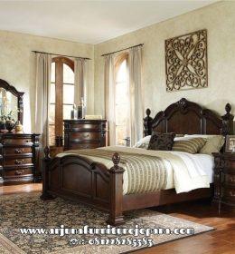 Tempat Tidur Kayu Jati Ukir Klasik Mewah