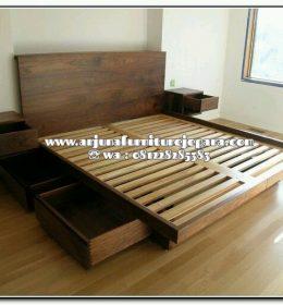 Harga Tempat Tidur Laci Minimalis Jati Modern