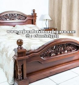 Harga Tempat Tidur Minimalis Jati Ukir Jepara