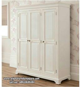 Lemari Pakaian Minimalis Putih Terbaru