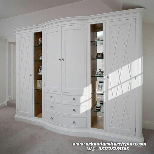 Lemari Pakaian Kayu Minimalis Classic Terbaru, almari pakaian kayu minimalis