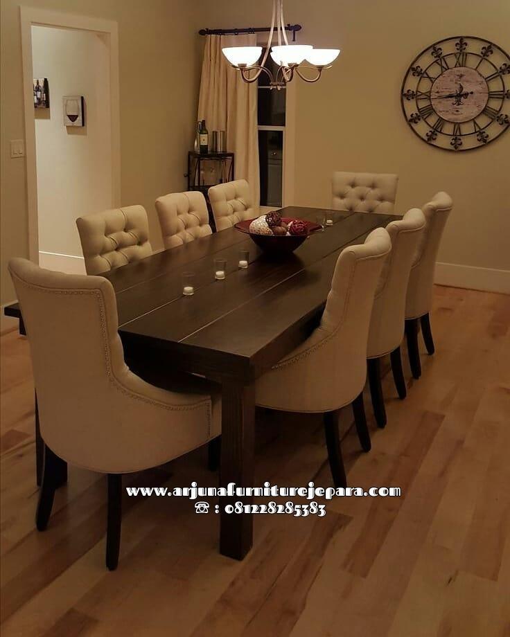 Set Meja Makan Minimalis Jati Furniture Jepara