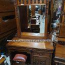 Harga Meja Rias Jati Ukir Mawar Furniture Jepara