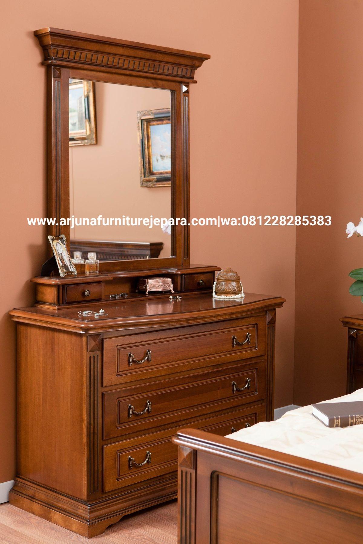 Meja Rias Kayu Jati Minimalis Furniture Jepara