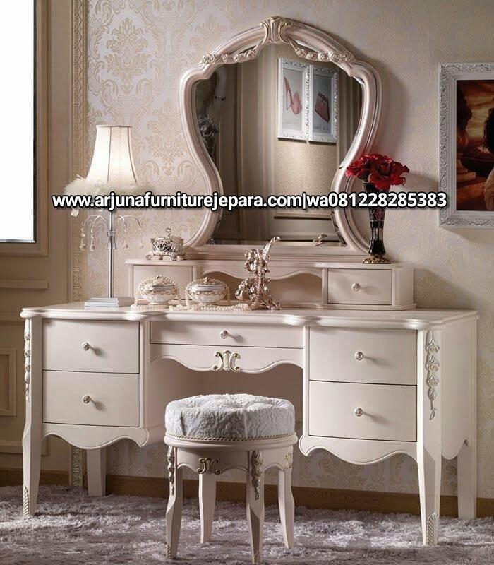 Model Meja Rias Putih Duco Classic Mewah