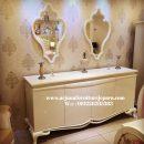 Desain Meja Rias Klasik Putih Duco Meja Konsul Cermin Bufet Classic
