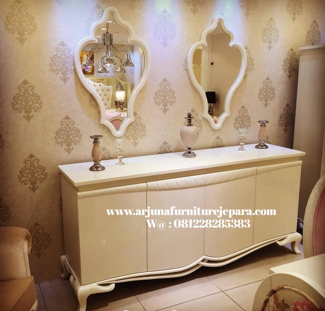 Meja Rias Klasik Putih Duco Meja Konsul Cermin Bufet Classic