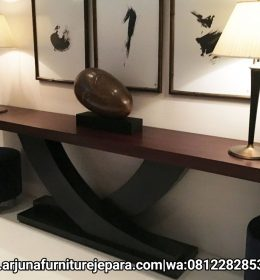 Meja Console Jati Furniture Jepara Meja Konsul Minimalis Terbaru