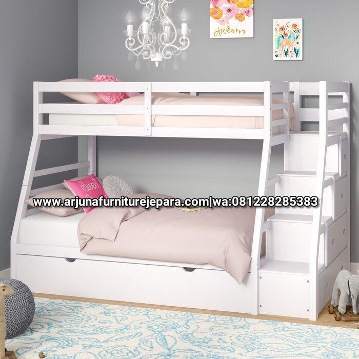 Model Dipan Susun Minimalis Putih Tempat Tidur Anak Tingkat