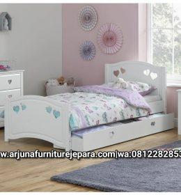Gambar Ranjang Anak Love Model Sorong Tempat Tidur Anak Putih