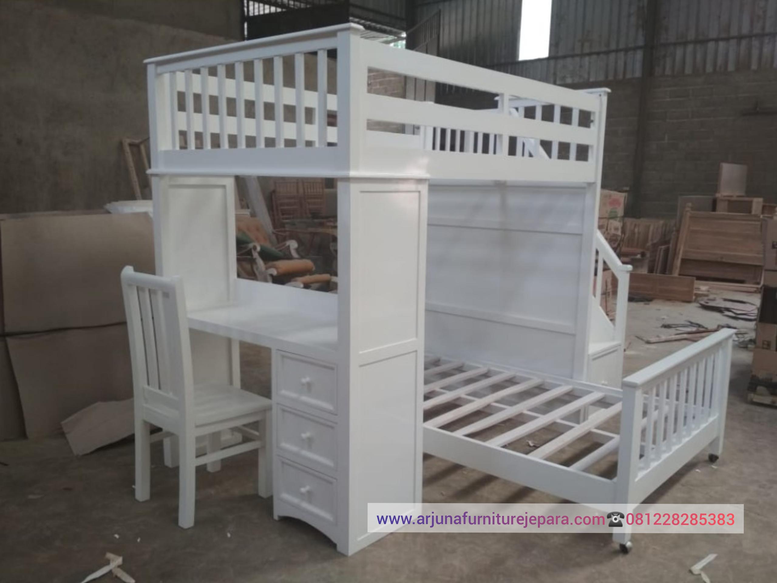 Model Set Ranjang Susun Meja Belajar Tempat Tidur Anak Duco