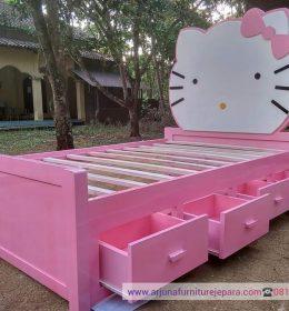 Harga Tempat Tidur Anak Hello Kitty Ranjang Anak Kayu Terbaru